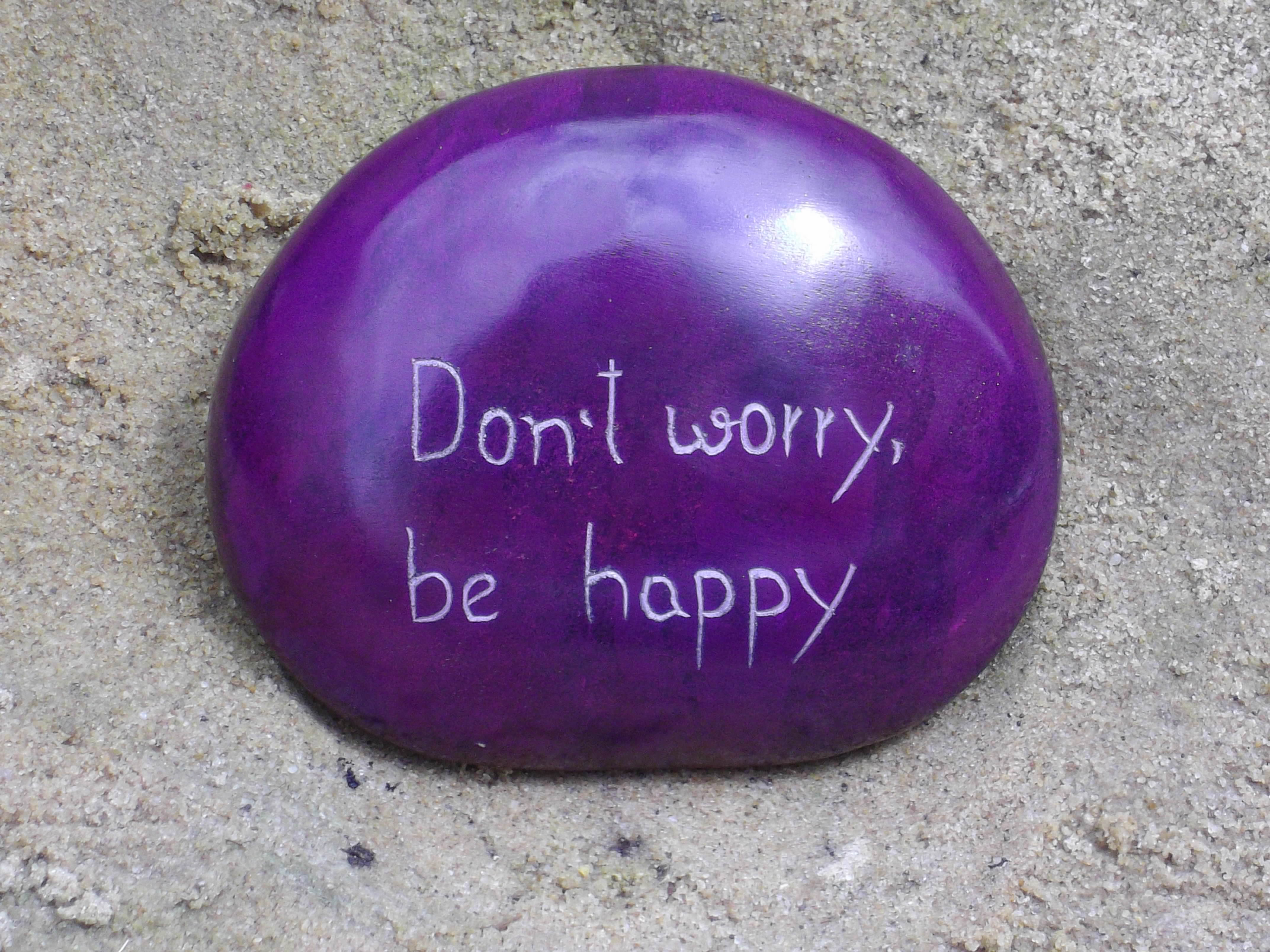 Purple Stone Don't Worry Be Happy