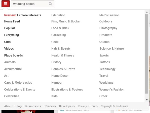 categories-Pinterst