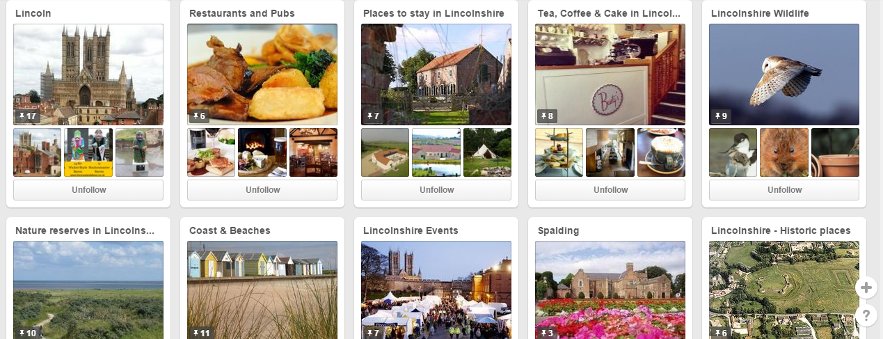 Pinterest Boards Lincolnshire