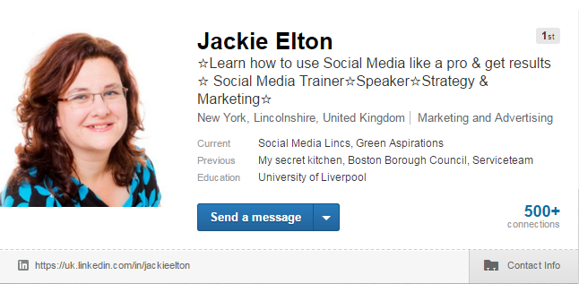 Jackie Elton LinkedIn Profile