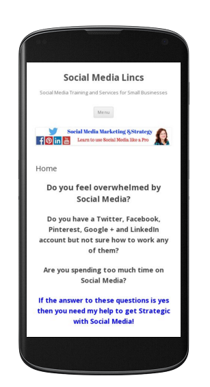 Social Media Lincs Mobile friendly