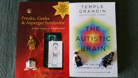 Autism books and lego star wars figures