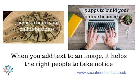 adding text to images for social media