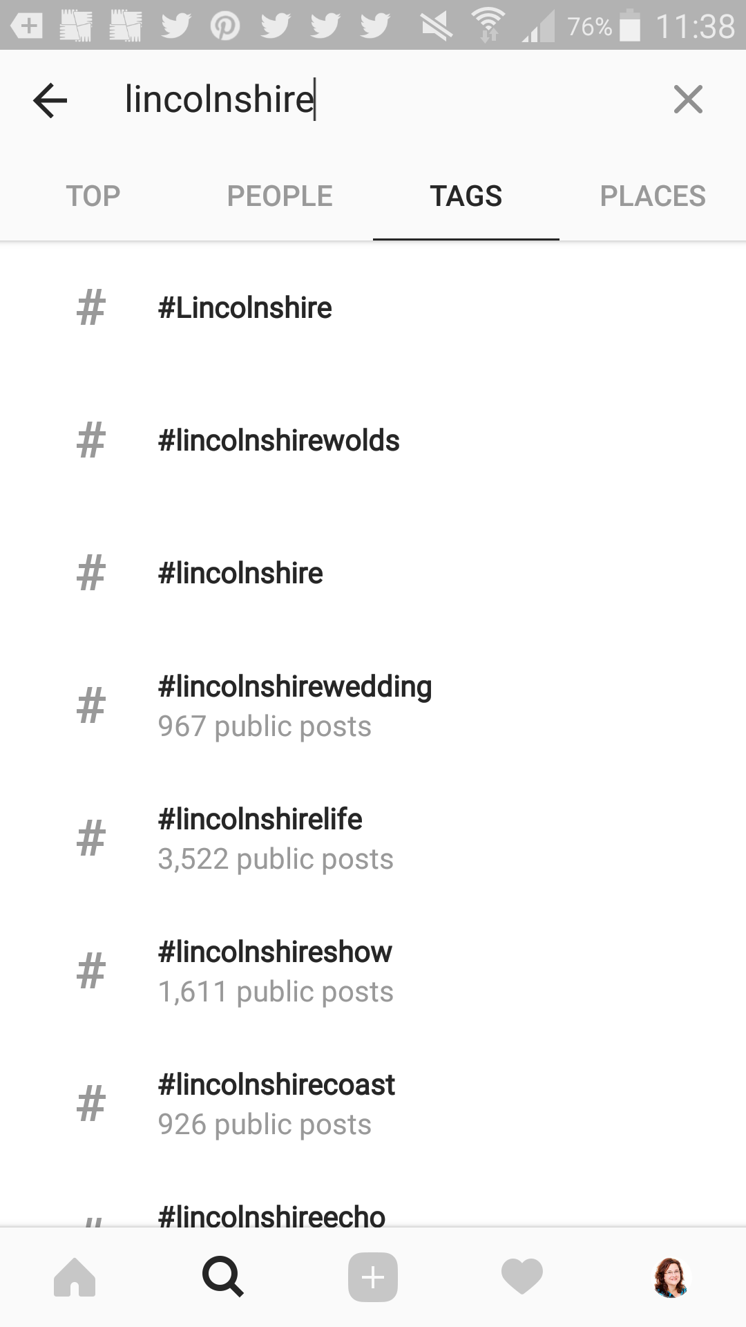 Instagram Hashtag research